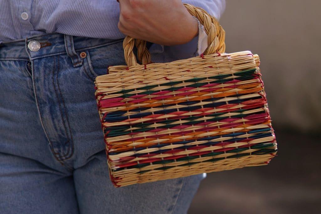 strohhandtasche